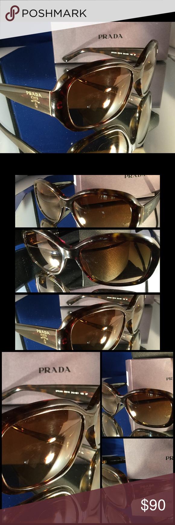 743b1804f2 PRADA Polarized Havana Dark Tortoise Sunglasses  6 Unisex classic