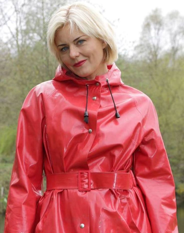 Red PVC Raincoat | shiny red coats | Pinterest | Pvc raincoat ...