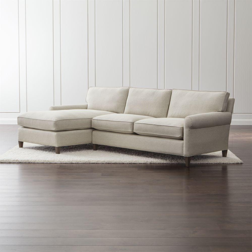 Montclair 2 Piece Left Arm Chaise Roll Arm Sectional Sofa