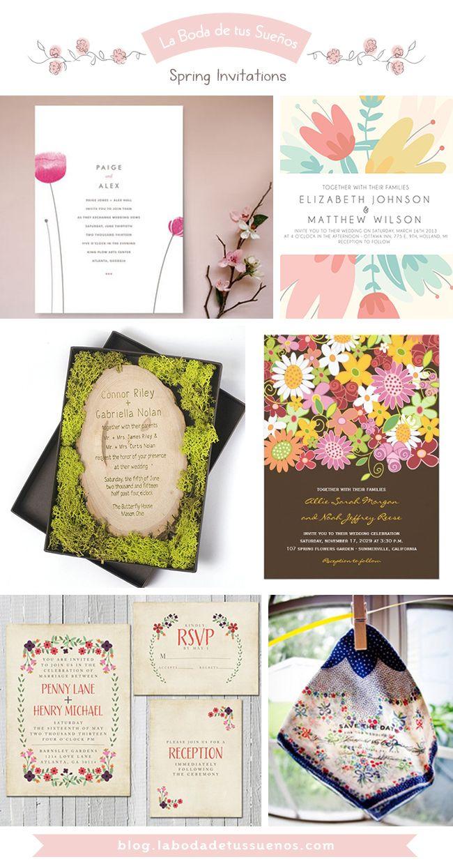 Spring Invitations // Invitaciones Primaverales | Invitaciones de boda,  Diseño de invitación