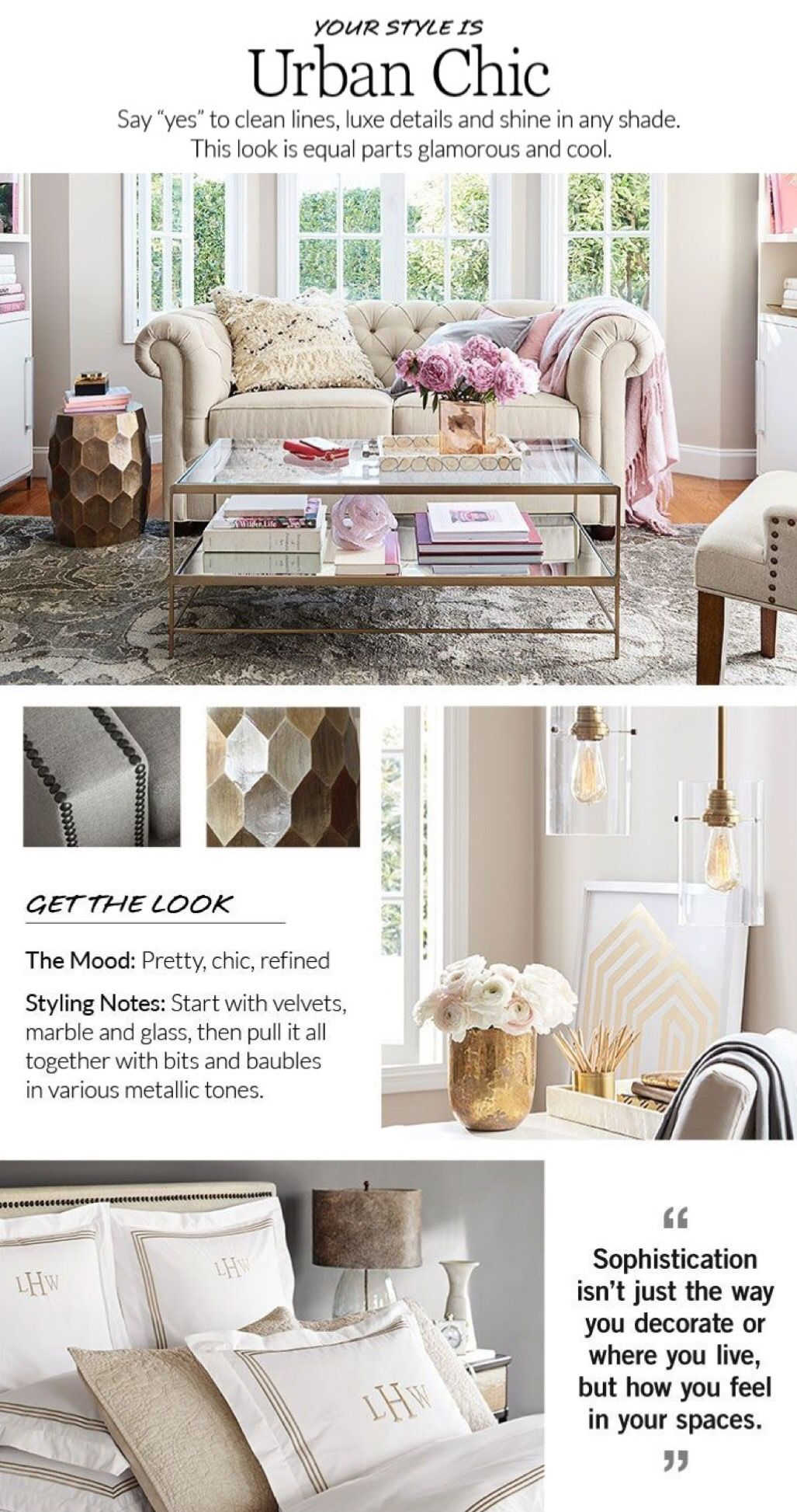 Get The Look Urban Chic Style Finder Quiz Pottery Barn Living