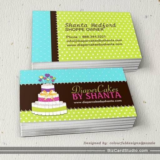 Diaper cake business cards business card templates pinterest diaper cake business cards cheaphphosting Images