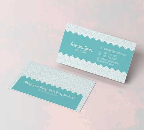 Party planner business cards 7 work related pinterest card two double sided business card templates for event or party planners these free photoshop files feature playful layout in horizontal and vertical design colourmoves