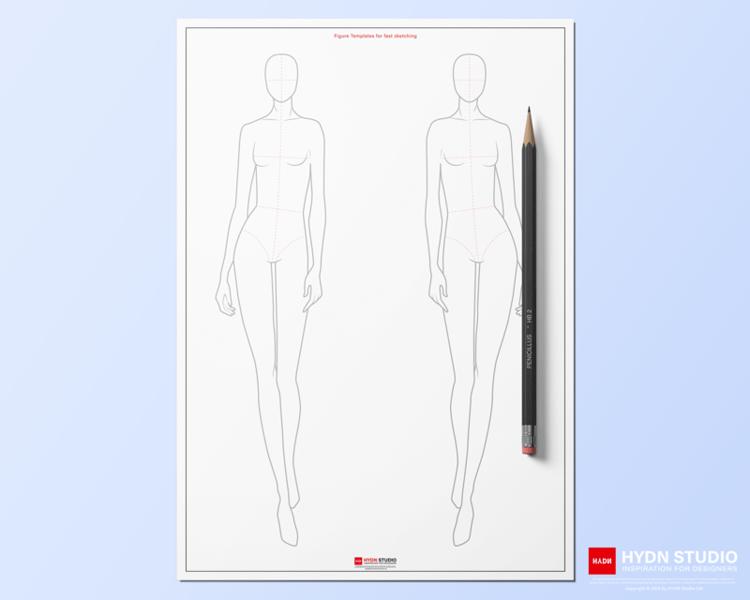 Female Fashion Croquis Template 10head For Fashion Illustration Fashion Flat Sketch Apparel Design In 2021 Digital Fashion Design Apparel Design Fashion Illustration