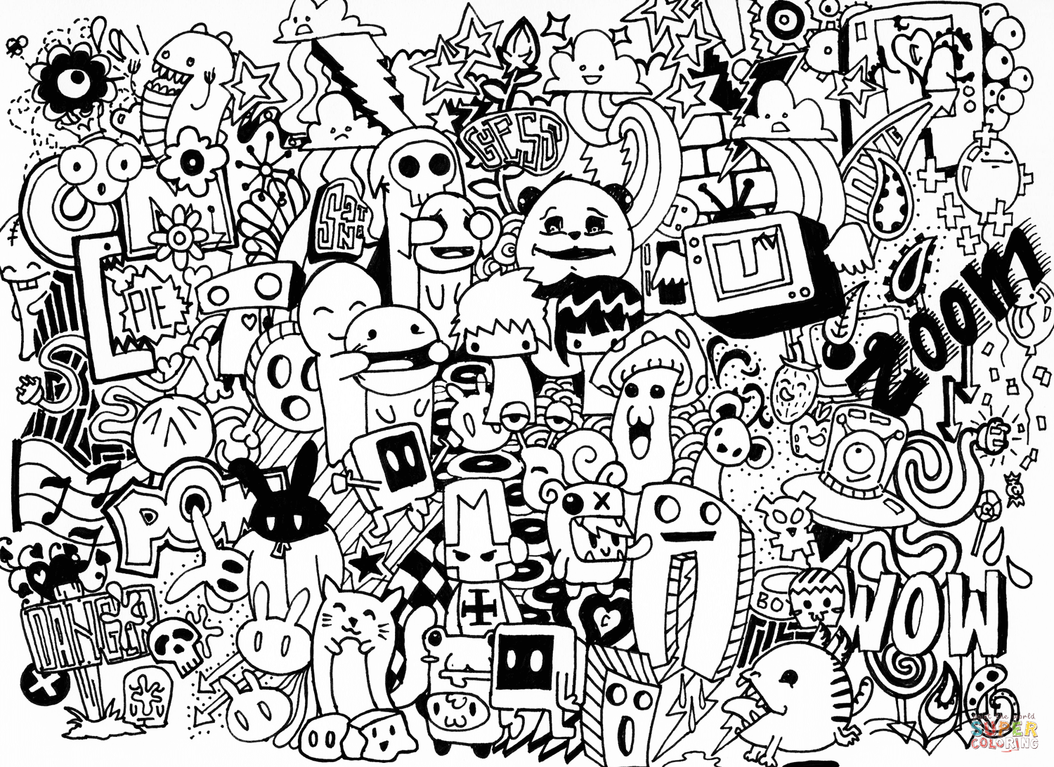 Doodle Art coloring pages | Free Coloring Pages | Doodled in 2019 ...