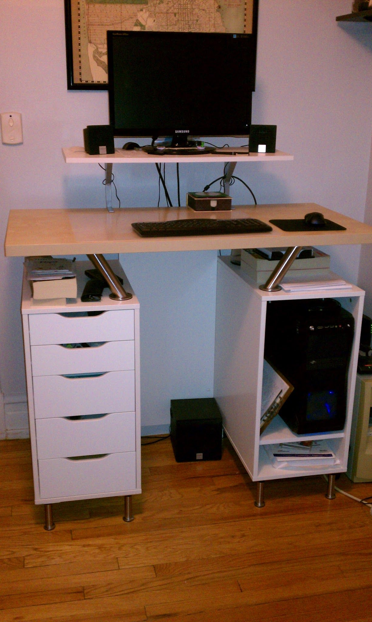 Diy ikea standing desk - Another Nice Ikea Hack Standing Desk Using Capita Brackets And Legs By Justin D Hoffman