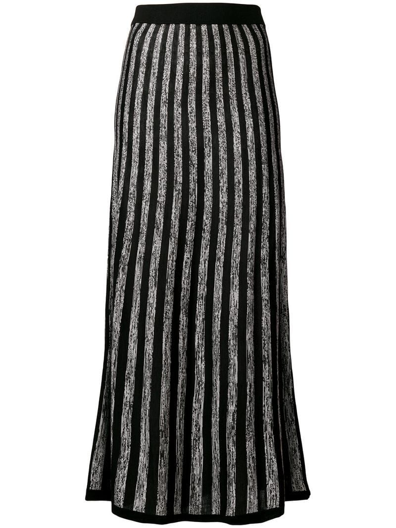Women Ladies Contrast Panel Pleated Elasticated Long Maxi Fashion Pencil Skirts
