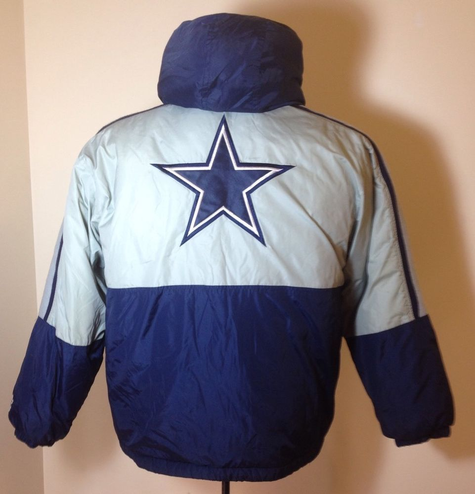 the latest a0dee 85948 Vintage STARTER Dallas Cowboys Winter Coat Hooded Boys Youth ...