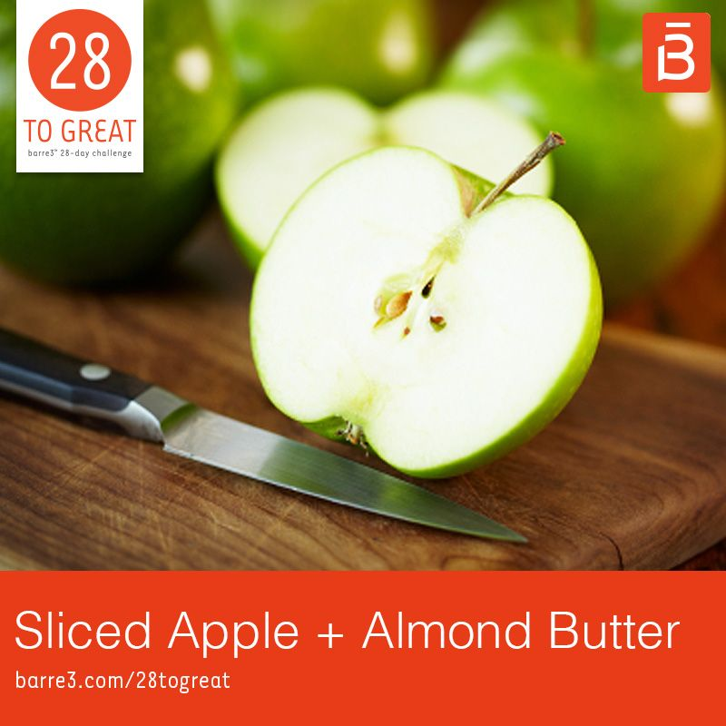 Photo of Sliced Apple + Almond Butter – barre3