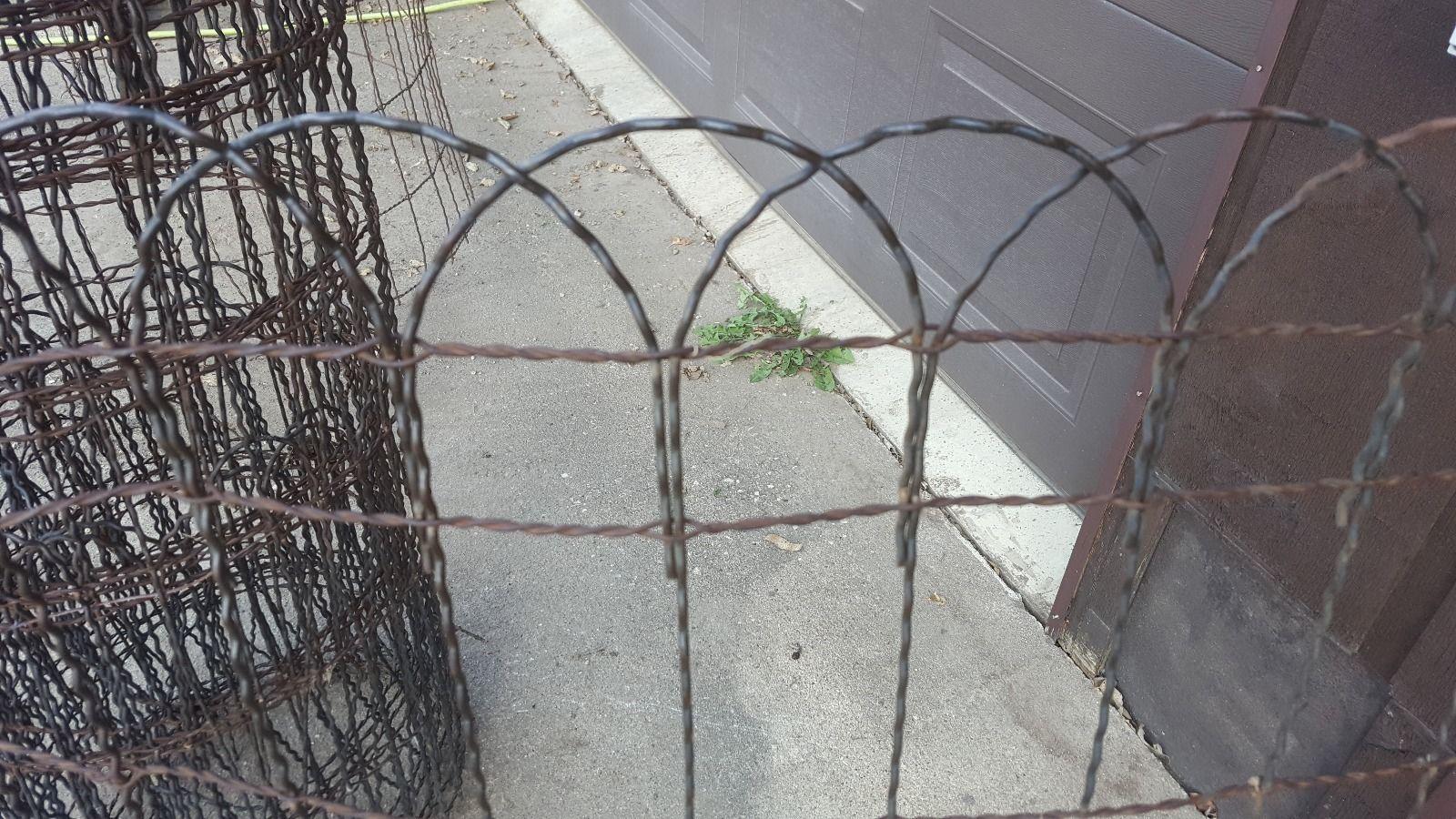 Vintage Woven Wire round top garden fence gate trellis 36\