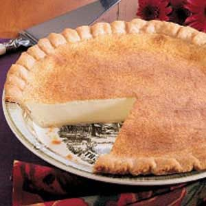 Mom's Custard Pie Recipe -Just a single bite of this traditional treat takes me back to the days when Mom would fix this pie for Dad, Grandfather and me. Mom also regularly prepared pies for large gatherings. This dessert was often requested. -Barbara Hyatt, Folsom, California
