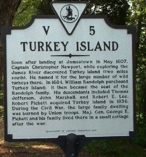 Photo of henrico county virginia history | Turkey Island Marker Photo, Click for full siz…