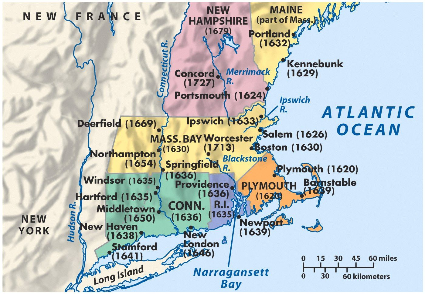 Mid Atlantic Colonies