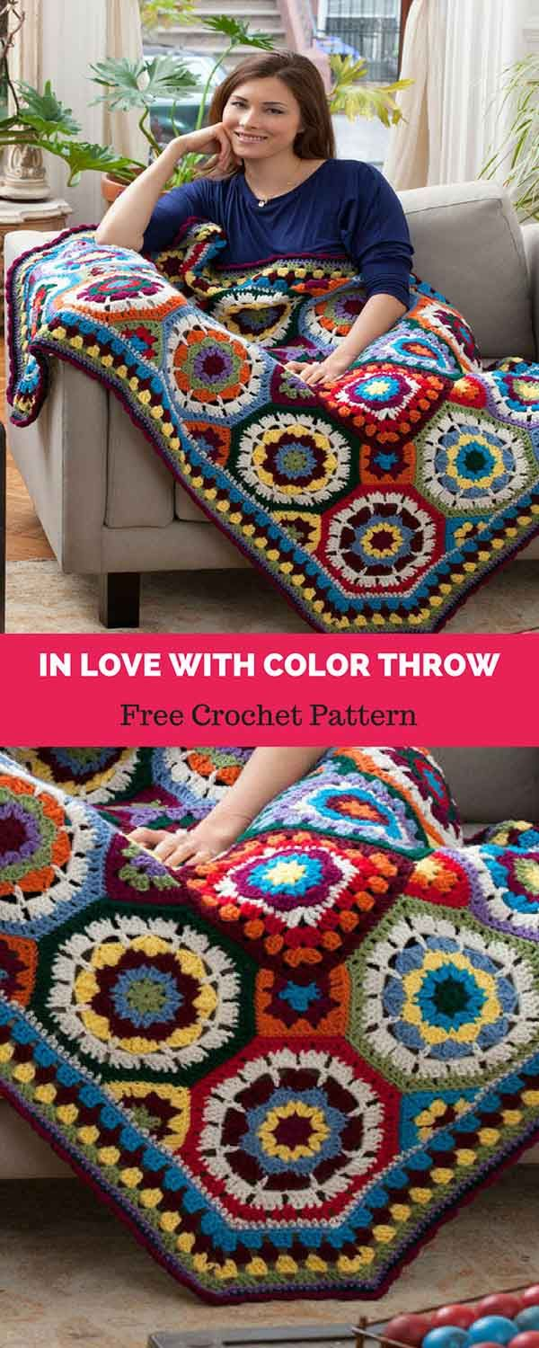In Love with Color Throw [ FREE CROCHET PATTERN | Ripple afghan (тип ...