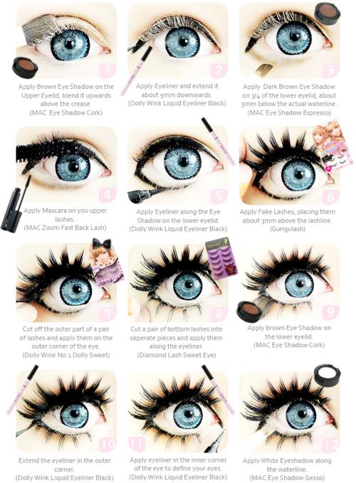Gyaru Circle Lenses As Seen On Famous False Eyelashes And Winged Eyeliner Shop Authentic Circle Lenses Doll Doll Eye Makeup Anime Eye Makeup Gyaru Makeup