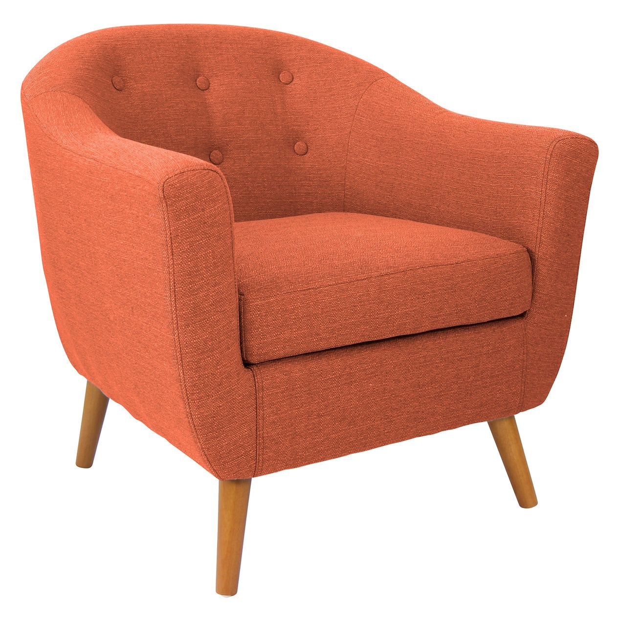 Rockwell Accent Chair Orange Upholstered Accent Chairs Orange