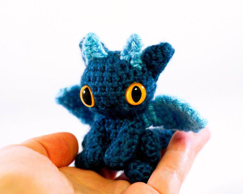 Amigurumi Dragon Wings : Tiny dragon amigurumi teal blue baby dragon amigurumi and dragons