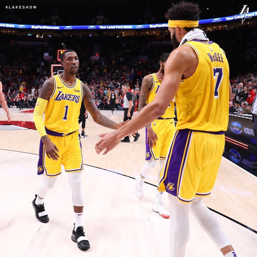 Los Angeles Lakers On Instagram Lakers Outlast The Blazers And Are Headed Home With A Win Rondo Was The Tonight Del Los Angeles Lakers Lakers Win Lakers