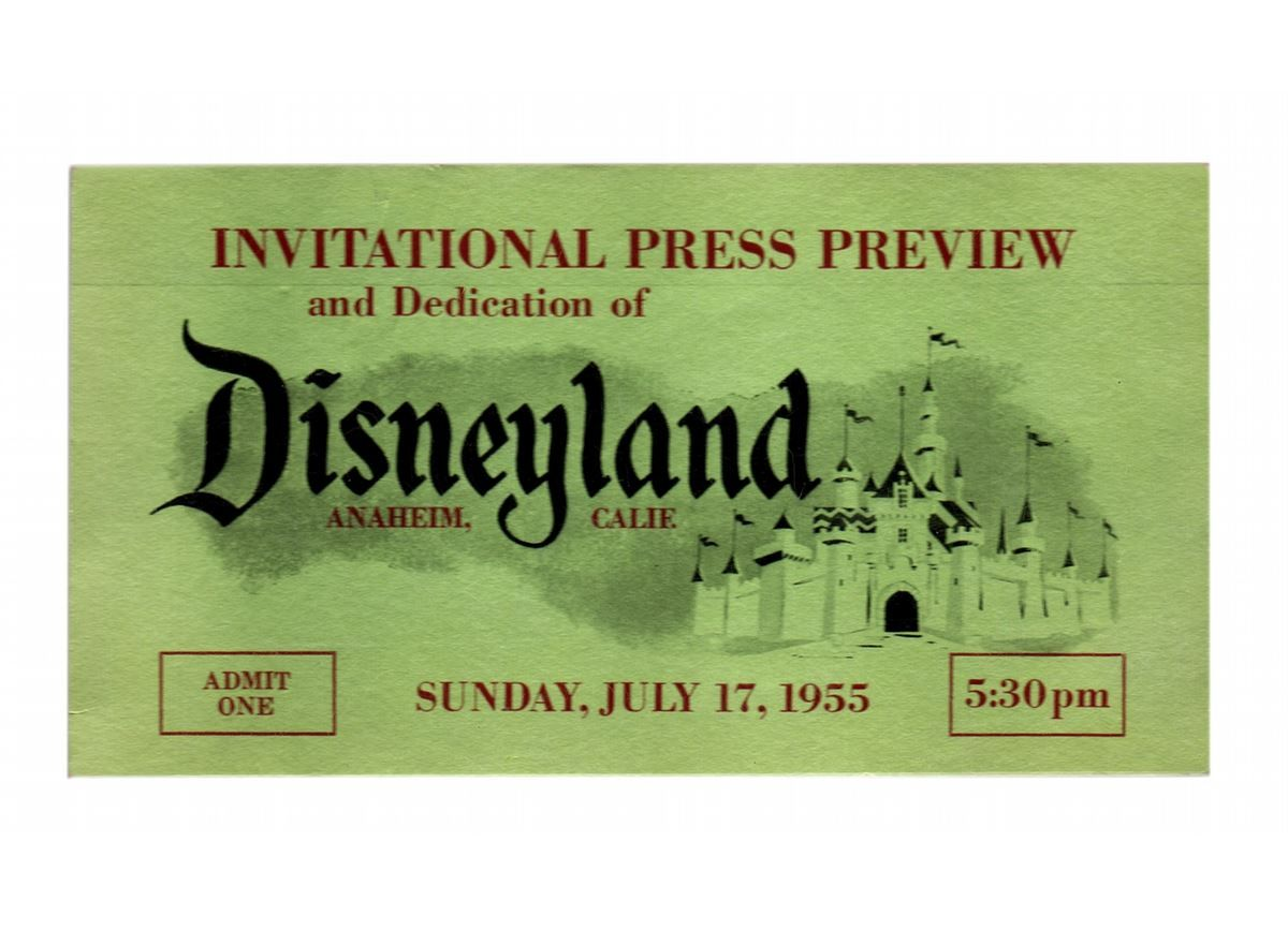 Opening day press preview ticket  | Happiest Place On Earth