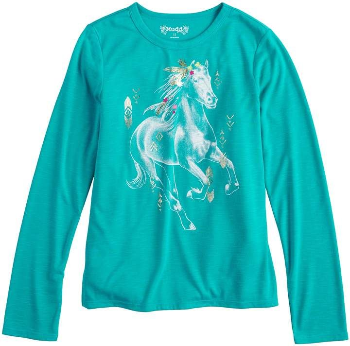 27286c3161b9 Mudd Girls 7-16 & Plus Size Long Sleeve Graphic Tee | Products ...