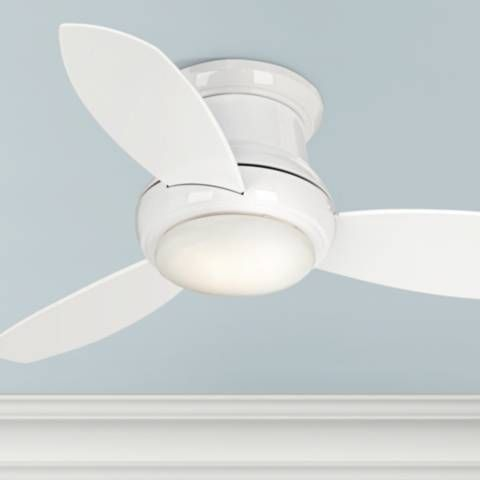 44 Concept Ii White Flushmount Led Ceiling Fan 19a38 Lamps