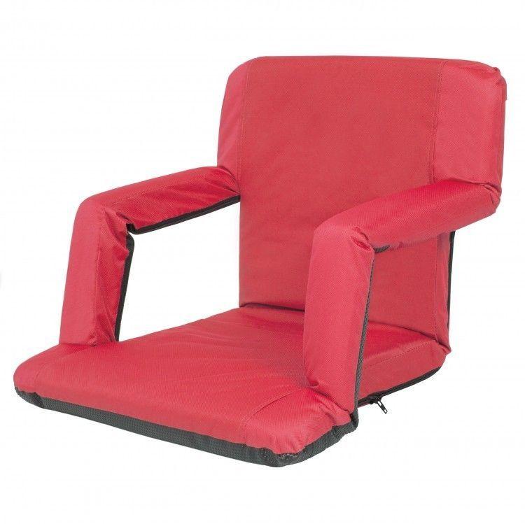 Portable Seat Cushion Football Stadium Folding Chair Baseball Pad Backpack Portableseatcushion