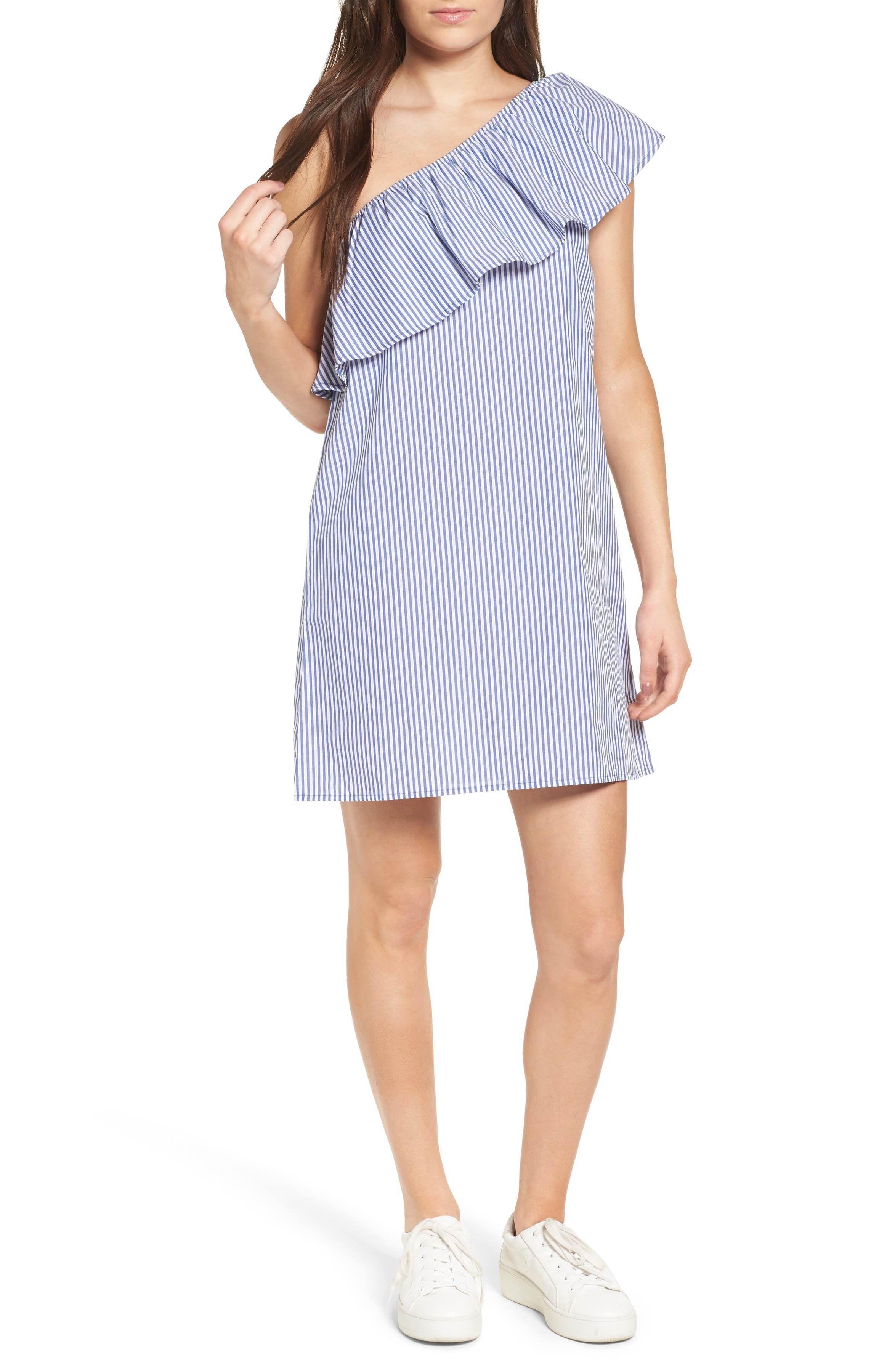 Main Image - Fire One-Shoulder Dress