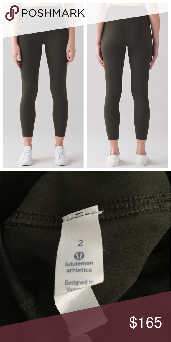 866127ad29863e Lululemon Align Pant II Dark Olive Size 2 Such a beautiful, rich shade of  green