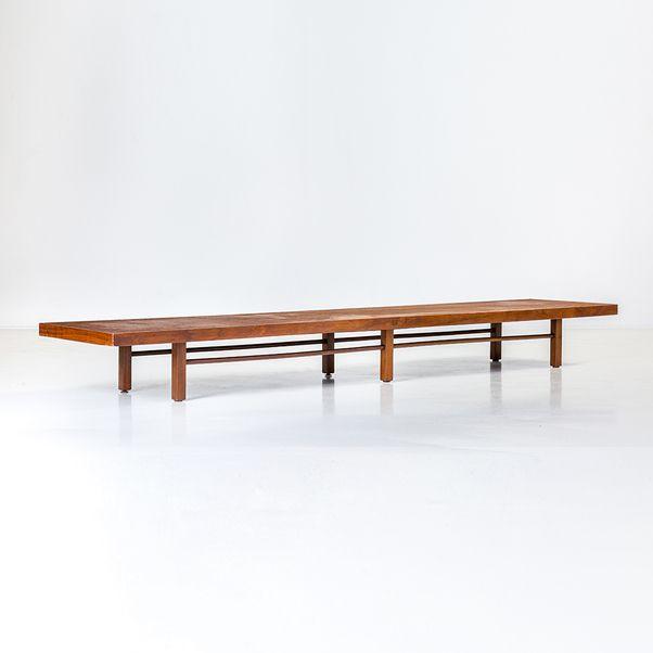 milo baughman 1923 2003 table basse noyer