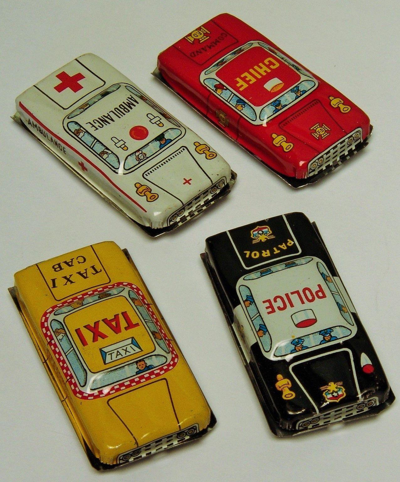 1950's Japanese Tin City Car Set