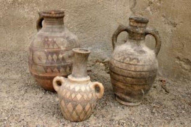 cerâmica africano, garrafas Foto gratuita