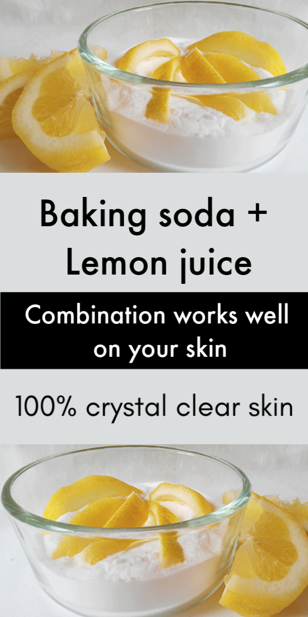 Lemon Juice And Baking Soda Face Mask To Clear Skin