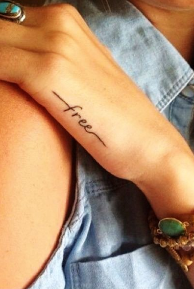 40 Charming One Word Tattoo Examples Teamtatted Tattoos Small