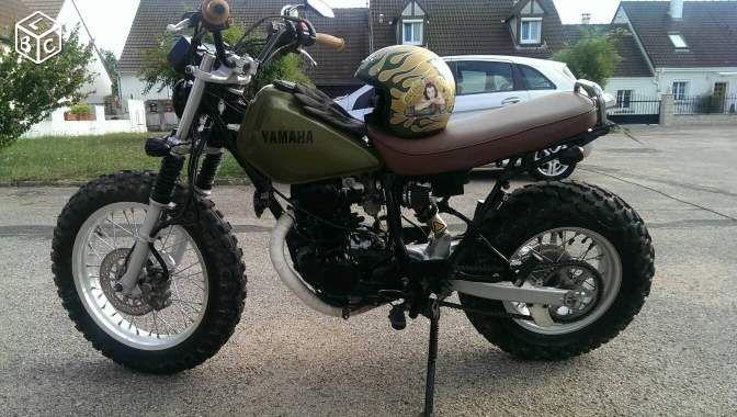 yamaha 125 tw caf racer motos loiret nourdine69 pinterest. Black Bedroom Furniture Sets. Home Design Ideas