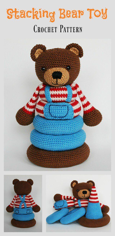 Stacking Toy Crochet Patterns | Häkeln, Stofftiere und Kuscheltiere