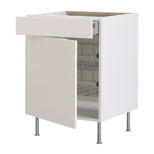 Sektion Base Cabinet With Wire Baskets: AKURUM Base Cab W Wire Basket/drawer/door IKEA Smooth