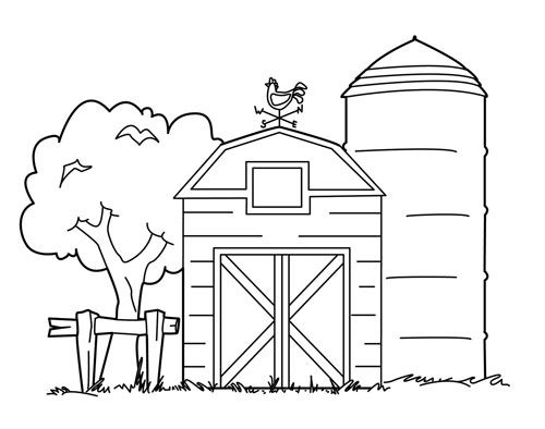 Barn Coloring Pages | Farm embroidery patterns | Pinterest | Fiesta ...