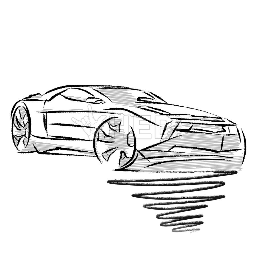 Modern Sports Car Drawing Study Hebstreits Sketches Car Drawings Hand Drawn Vector Illustrations Drawing Studies