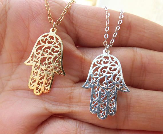 Large hamsa necklace protection hand sterling jewelry necklace large hamsa necklace protection hand sterling jewelry necklace etsymktgtool http mozeypictures Image collections