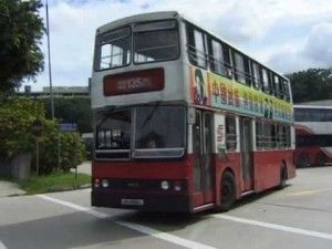 Old bus without aircon