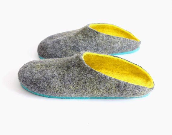 3005084ce24c0 Handmade Clogs Women, Men Felted Slippers, Mens Clogs Mule Slippers ...