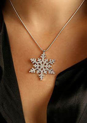 2a9d1329ff4ac Crystal Ball: Swarovski Rhodium/Crystal Snowflake Pendant - maybe a ...
