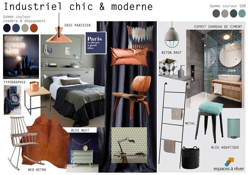 espaces r ver appartement industriel chic et moderne 60m2 75010 paris pl r alisation. Black Bedroom Furniture Sets. Home Design Ideas