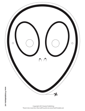 Printable Alien Mask To Color