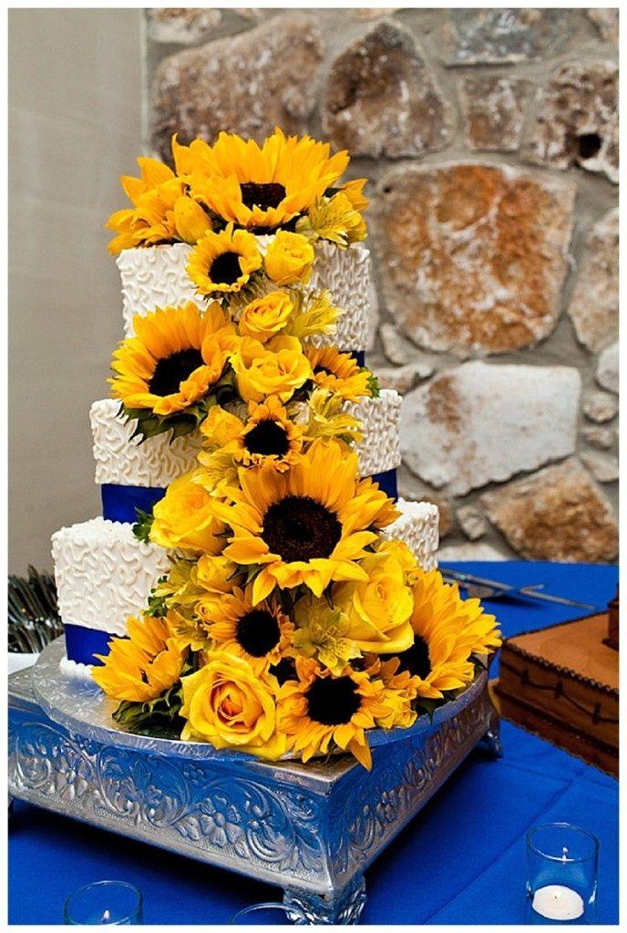 sunflower wedding cakes sunflower wedding cake (With