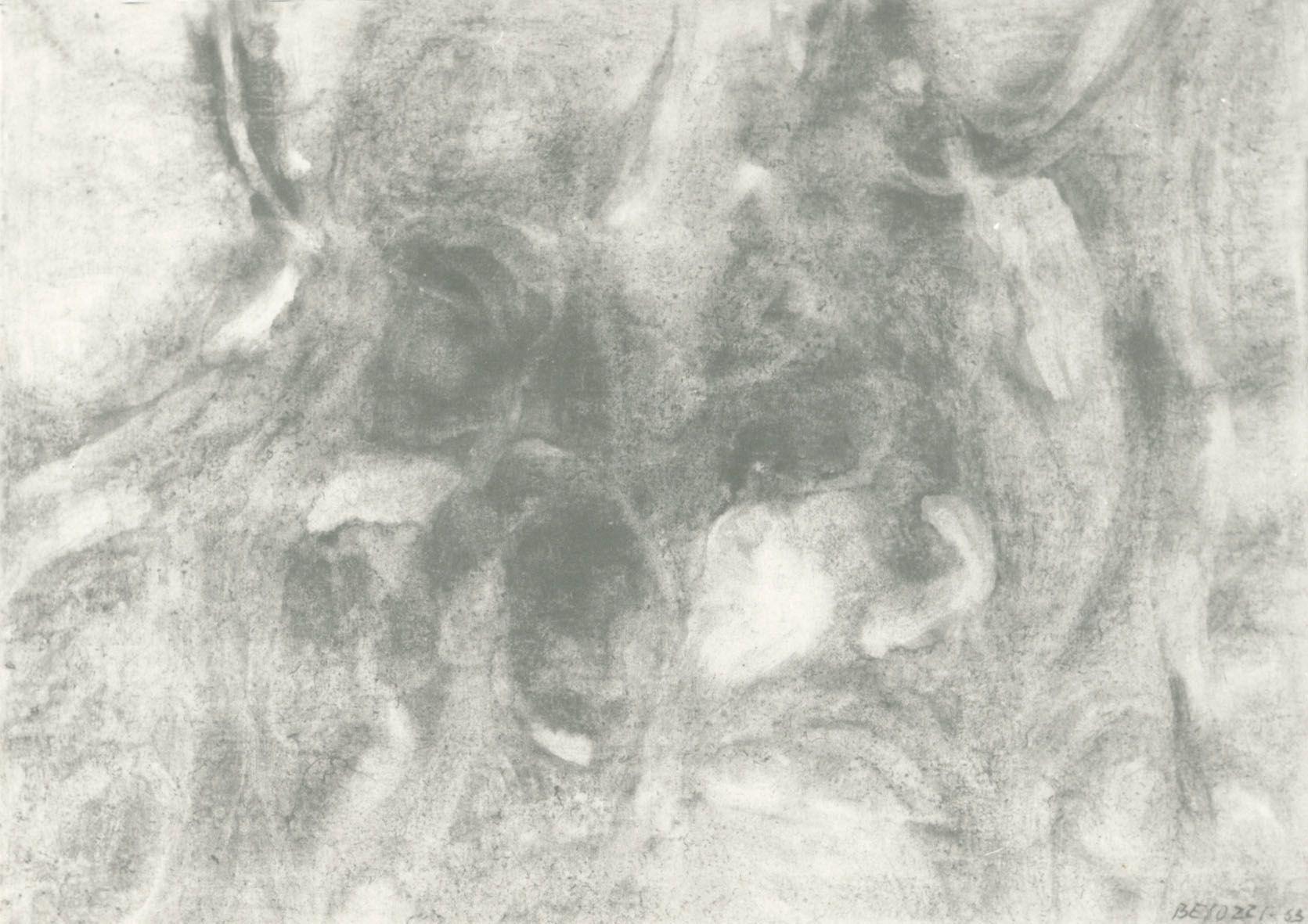 Ermanno Besozzi pittore 1963 Presenza olio su tela arc 878