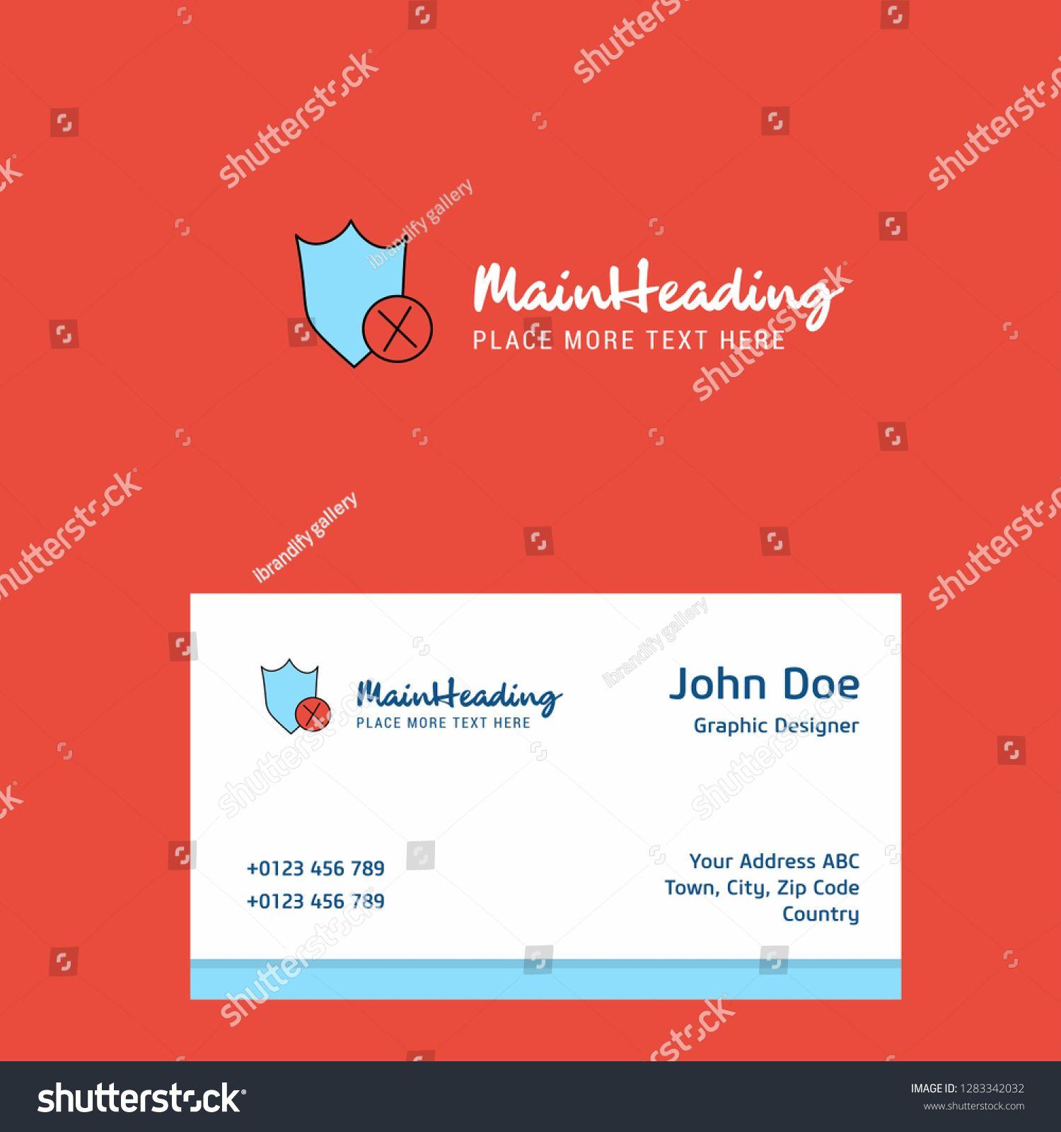 Shield Logo Design Business Card Template In 2020 Business Card Design Business Card Template Design Modern Business Cards Design