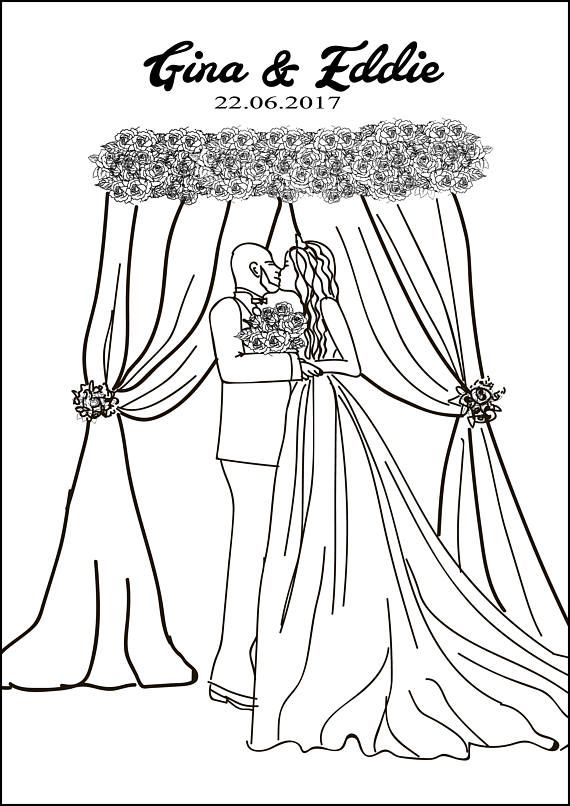 Custom Coloring Bookunique wedding gifts1st anniversary