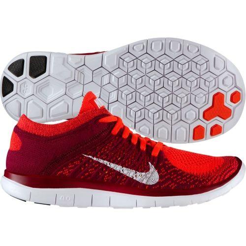 Mujeres Running Nike Free Flyknit Running Mujeres Zapatos Rojo Blanco Frambuesa 2d9406