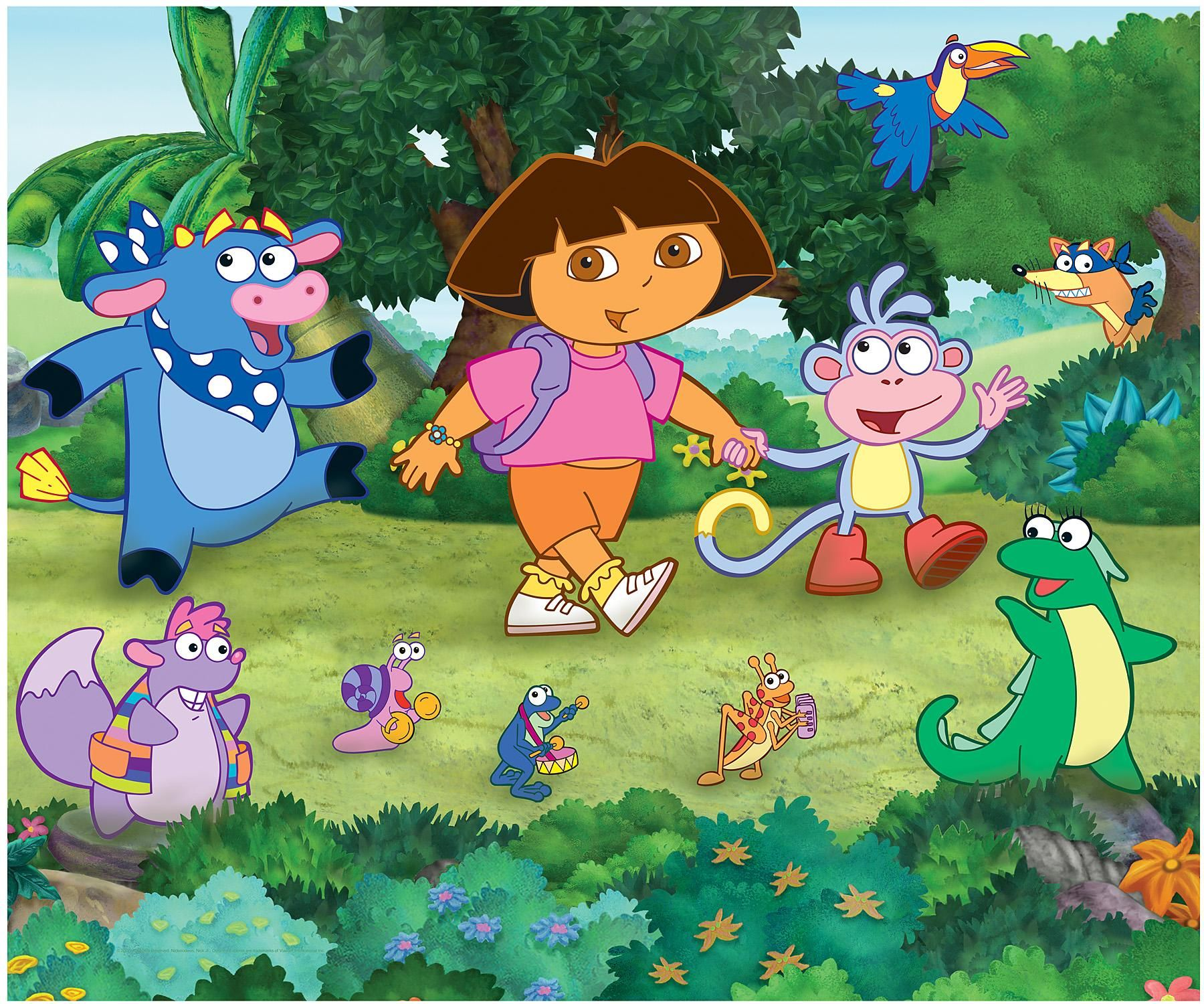 Download dora the explorer wallpaper for android dora the for Dora wall mural